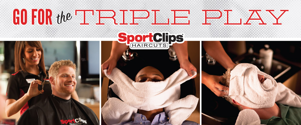 The Sport Clips Haircuts of Chesapeake Square Shops  Triple Play
